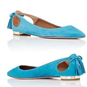 Aquazzura Forever Marilyn Flats - Teal/Turquoise